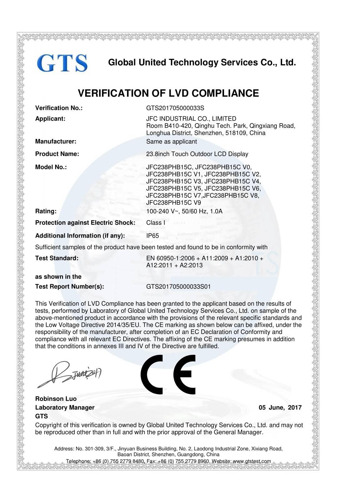 Verification of LVD Compliance