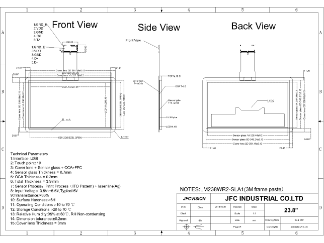 Mechanical Drawings - 4k Touchscreen
