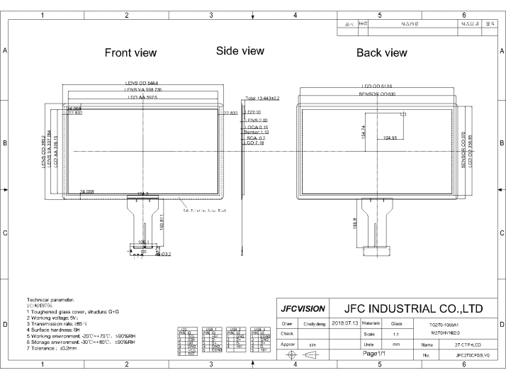 China Capacitive TFT Touch Screen Factory