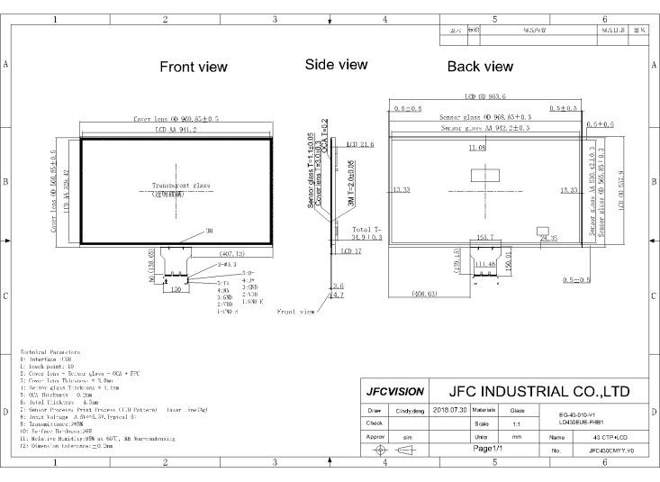 FHD USB Touch Screen Manufacturers
