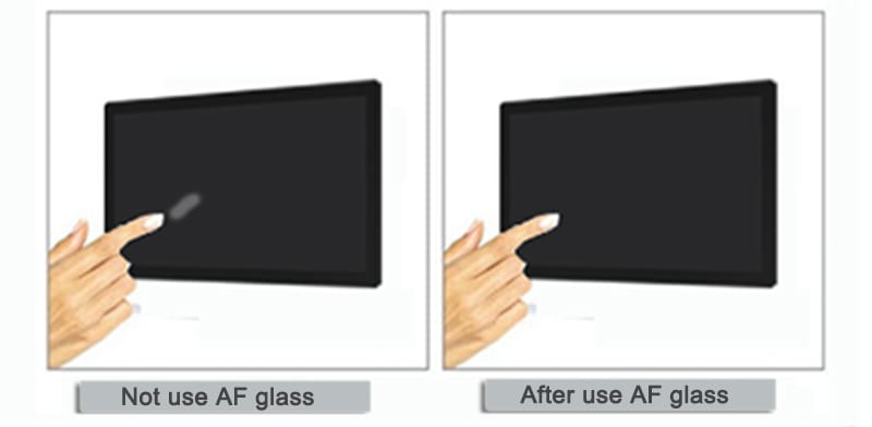 capacitive touch screen with AF glass