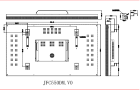 55 inch LCD monitor designed drawings