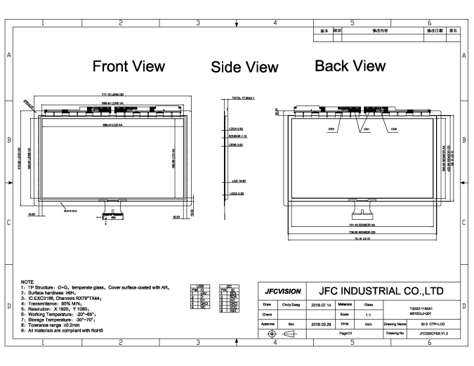 Industrial PCAP Touch Panel Manufacturers