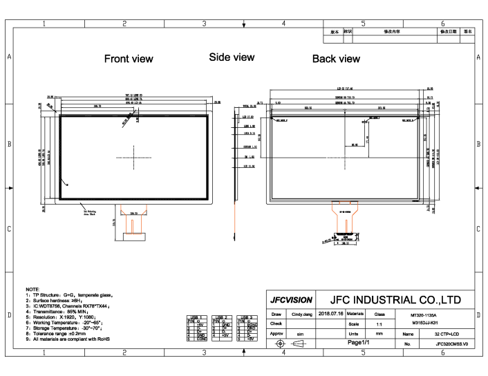 Projected Capacitive Touch Screen Manufacturers