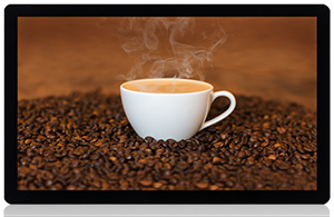 capacitive touch screen for self service coffee machines