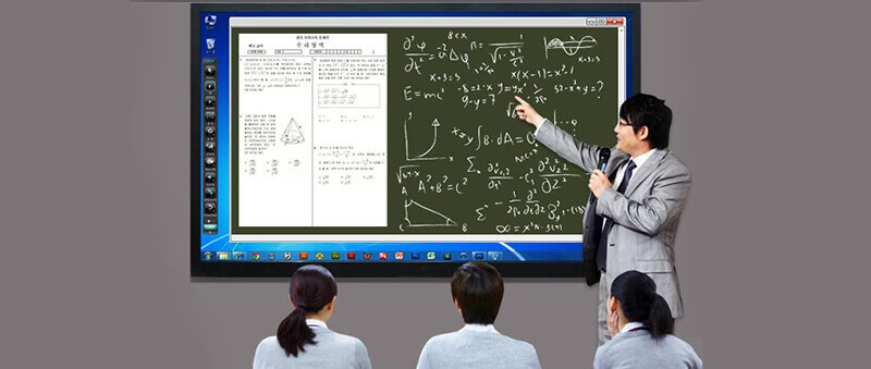 large touch screen for  interactive whiteboard