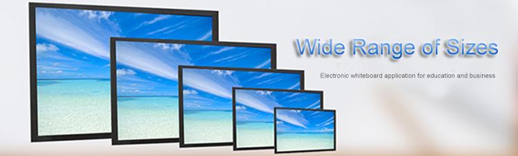 Wide range of sizes electronic whiteboard
