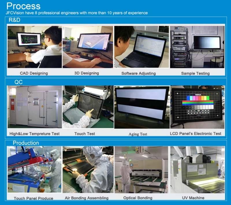 touch screen module process