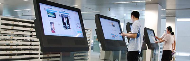 LCD touch screen kiosk