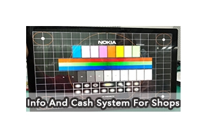 22 inch Touch Screen: Info And Cash System For Shops