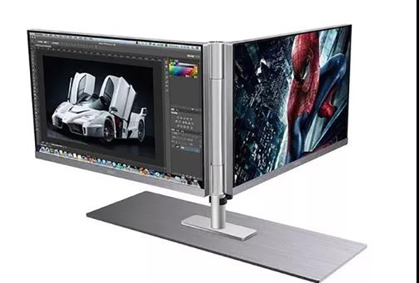 Coaxial dual display panel