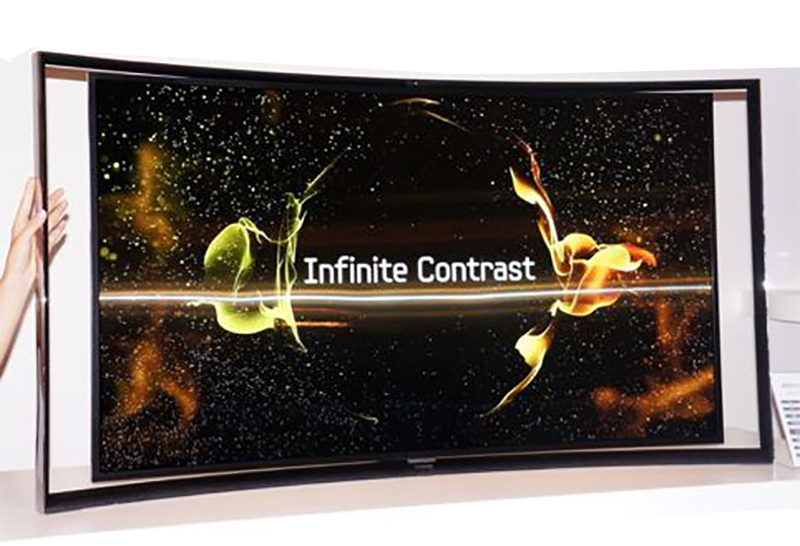 higher contrast OLED display