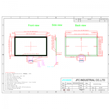 43 inch TFT lcd touch screen