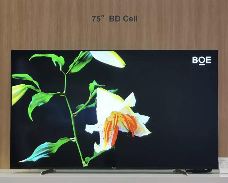 BOE 4K display, 8K display